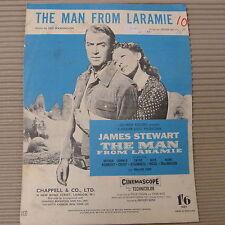 Foglio CANZONE L'UOMO DI LARAMIE James Stewart 1955