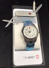 Victorinox Swiss Army Classic Analog Stainless Steel Watch Gift Set w/Knife