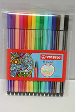 Stabilo Pen 68 Wallet 15 Brilliant Colours Pen Set Ideal Adult Colouring 6815-1