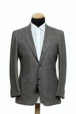 New 2400$ SARTORIO Napoli by KITON Flannel Wool Suit Gray 40 US 50 EU 8R