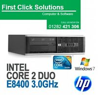 HP ELITE 6000 SFF CORE 2 DUO DESKTOP TOWER PC COMPUTER WITH WINDOW 7 4GB 160 HDD