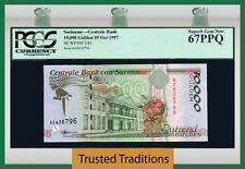 TT PK 145 1997 SURINAME 10000 GULDEN PCGS 67 PPQ SUPERB GEM POPULATION ONE