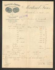 """MAZAMET (81) USINE au PONT DE LOULE prés HAUTPOUL / DRAPERIES """"MARTINEL"""" 1904"""
