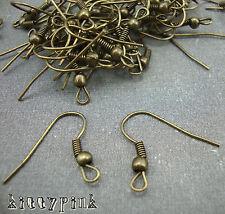 100 Bronze Gold Earring Fish Hooks Ear wires LEAD FREE