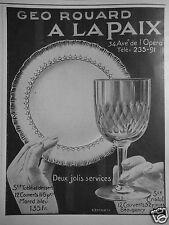 PUBLICITÉ 1909 GEO ROUARD A LA PAIX DEUX JOLIS SERVICES - EHRMANN - ADVERTISING