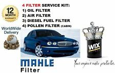 FOR JAGUAR X TYPE 2.0 .2 2003- ON SERVICE KIT OIL AIR FUEL POLLEN  FILTER SET