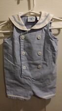 Hartstrings Baby 3-6 Months Boy Girl Sailor Nautical Romper One Piece Outfit EUC