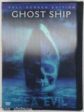 Ghost Ship (DVD, 2003, Full Frame) Horror, Rare Lenticular Cover