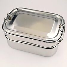 Eco Friendly Stainless Steel Lunch Box - Three Layer Bento Set with Tray - Me...