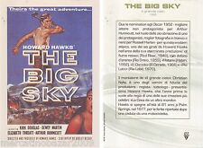 THE BIG SKY Il Grande Cielo (1952) MINI LOCANDINA 18,5 X 12,5 ORIGINALE RKO