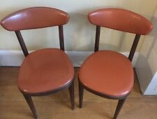 Pair Vintage THONET MCM Bentwood Dining Side Cafe Chairs Rare Style/Color b