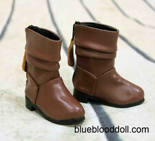 1/4 bjd msd girl doll brown color short boots shoes dollfie luts minifee S-109M