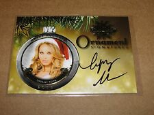2015 Benchwarmer TIFFANY TOTH #106 Holiday Gold Foil Ornament Autograph PLAYBOY