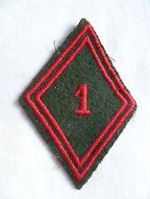 Losange tissu modèle 1945 patch 1° RT REGIMENT DU TRAIN ORIGINAL FRENCH UNIFORM