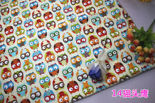 "Quilt fabric OWL Printed Cotton fabric cotton twill Fabric baby fabric 62"" BTY"