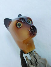 SCHERTZ CAT DOG HANDLE UMBRELLA ITALY VINTAGE UNIQUE