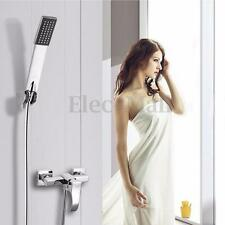 Square Shower Heads Spray Hand Holder Hose Set Water-saving Wall Mount Bathroom
