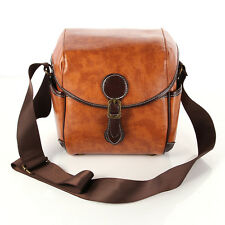 Retro PU Leather DSLR SLR Camera Waterproof Shoulder Bag For Canon Sony Nikon