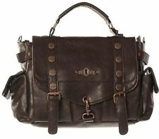 Banned Apparel Brown Copper Steampunk Goth Scene Emo Bag Small Purse Handbag