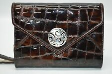 Brighton Patent Leather Brown/Gold Small Phone Case Wallet Clutch