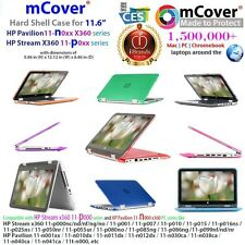 "mCover Hard Shell Case for 11.6"" HP Stream X360/Pavilion X360 Convertible laptop"