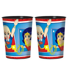 DC SUPER HERO GIRLS REUSABLE KEEPSAKE CUPS (2) ~ Birthday Party Supplies Comics