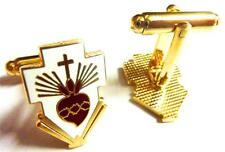 SACRED HEART Crucifix Catholic Vatican Pope Francis Cufflinks Cuff Links Set