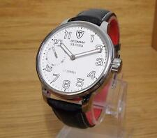 NEW Mens Detomaso Savona Silver/White Mechanical Handwind Gents Watch DT1028B