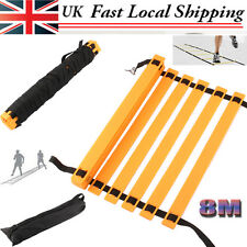 8m Football Running Speed Ladder Agility Soccer Training Equipment Sport Fit UK