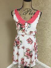 NWT Floral Dress Peter Pan Collar Feminine Flirty Romantic Xhilaration XS