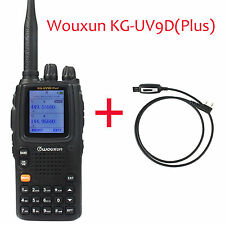 Wouxun KG-UV9D Plus Walkie Talkie UHF/VHF Cross-Band Repeater FM Radio+New Cable