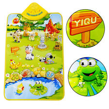 Musical Sound Farm Animal Baby Kids Play Mat Carpet Playmat Educational Toy Gift