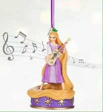 BNWT Disney Store SINGING RAPUNZEL Christmas Tree Decoration Ornament Sketchbook