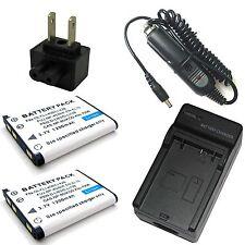 Charger + 2x 3.7v 1200mAh Li-ion Battery for Nikon EN-EL10 25752 MH-63 25747