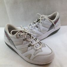 MBT Walking Toning Shoes Sneakers White Leather EU 41 US 8 M