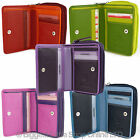 NEW Ladies Compact LEATHER Purse/Wallet by Visconti Gift Boxed Bright Colours