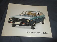 1974 VW Volkswagen Dasher Passat USA Market Color Brochure Sheet Prospekt