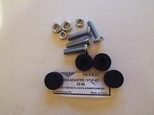 1955 1956 55 56 Chevy Hood Rubber 4 Adjuster Stop Kit w/ bolts & nuts, 4 rubbers