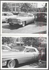 Vintage Car Photos 1963 Cadillac Convertible in Parking Lot 714874
