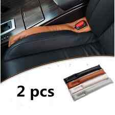 2 pcs Brown Leather Truck Car Auto Seat Gap Filler Soft Pad Drop Holster Blocker