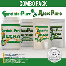 30 GARCINIA T5 EXTREME FAT BURNER & 30 ALOE VERA DETOX WEIGHT LOSS DIET PILLS