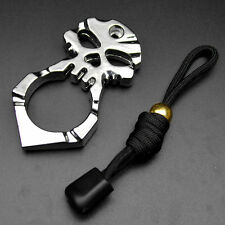 New Skull Pendant Keychain Outdoor Survival EDC Pocket Self Defence Multi Tool