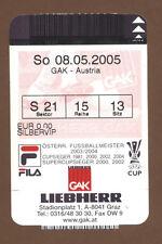 Orig.Ticket   1.Bundesliga  Österreich 04/05    GRAZER AK - AUSTRIA WIEN  !!