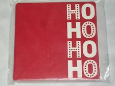 """10 Spritz 4"""" Ho Ho Ho Paper Coasters Christmas Holiday Beverage Drink Red White"""