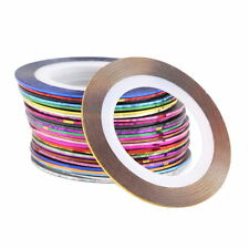 30 Pcs Mixed Colors Rolls Striping Tape Line Nail Art Tips Decoration Sticker DI