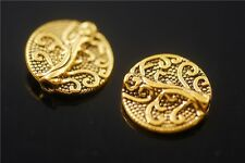 25pcs Tibetan Golden Metal Beads Loose Spacers Jewelry Making Charms 13mm