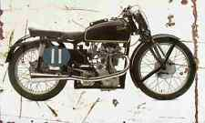 Velocette KTT Mark8 1947 Aged Vintage SIGN A4 Retro