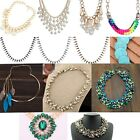 Fashion Charm Jewelry Pendant Chain Crystal Choker Chunky Statement Necklace Bib