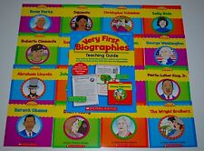 16 Very First Biographies Books Nonfiction Homeschool Grade 1 2 Easy Reading