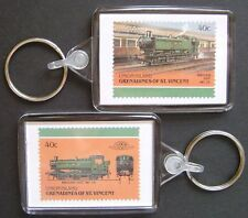 1947 GWR Shunter Class 9400 0-6-0 Pannier Tank Train Stamp Keyring (Loco 100)